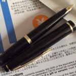 Sailor 21 Black Fountain Pen with Gold