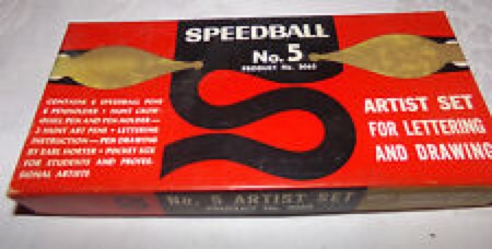 Speedball boxed pen set