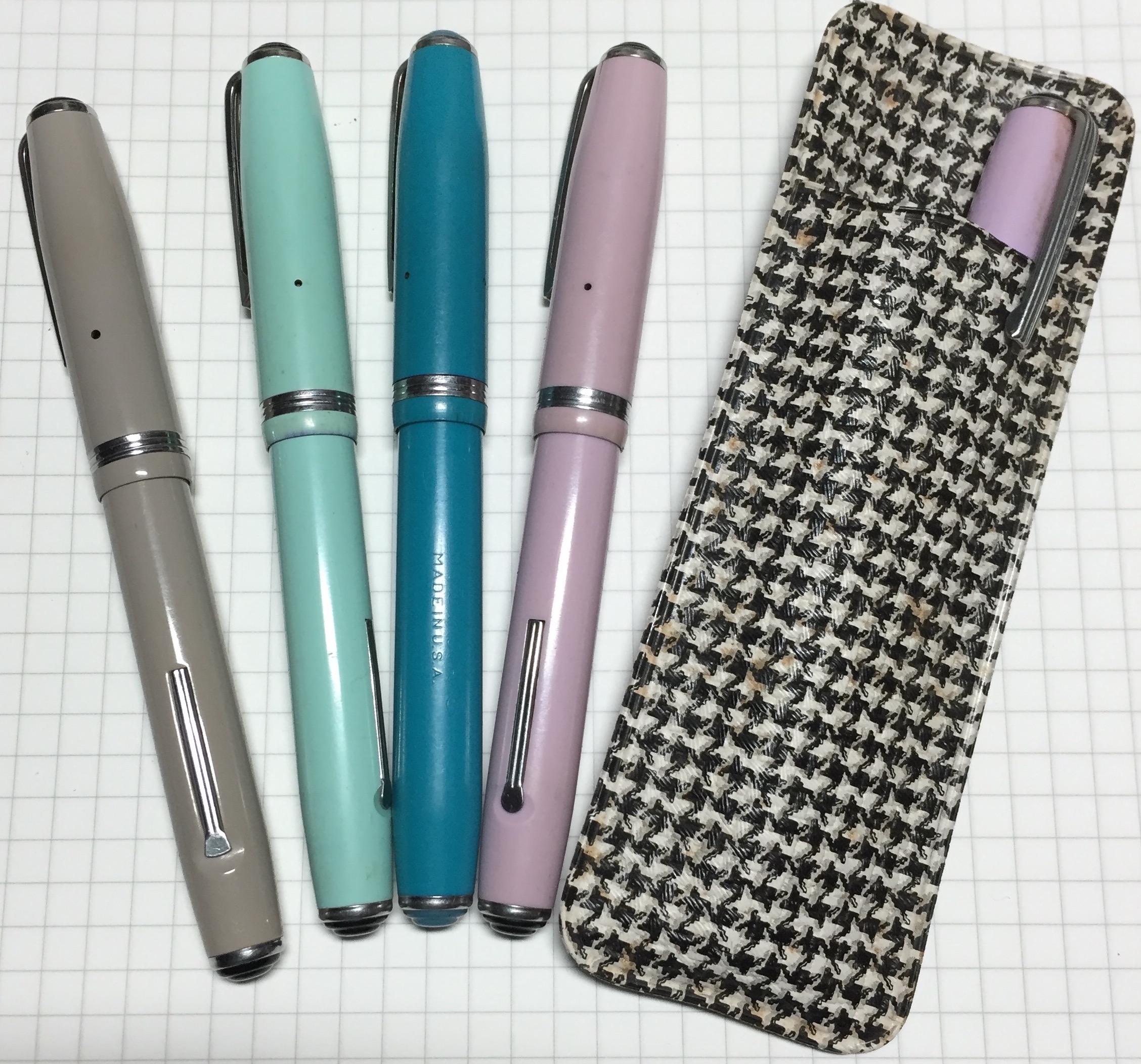 A selection of Esterbrook purse pens