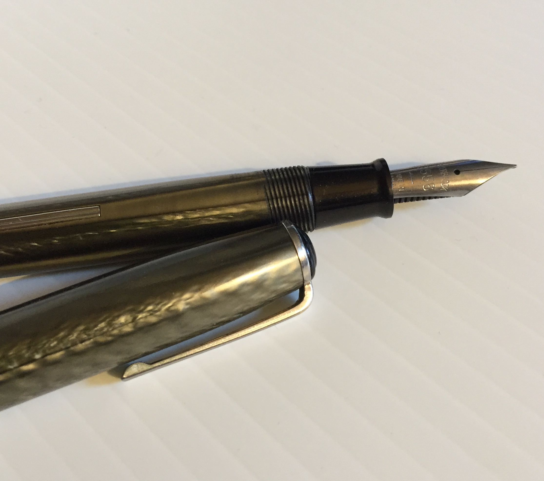 Esterbrook J Fountain Pen showing nib