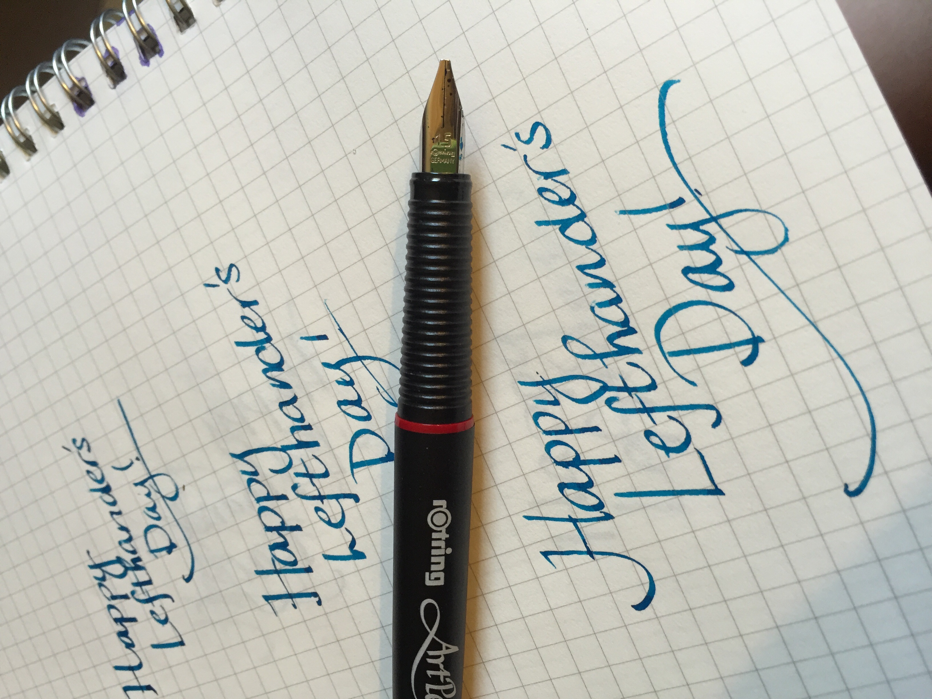 Lefthander's Day with Rotring ArtPen